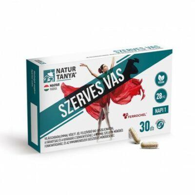 Natur Tanya® Szerves, vegán vas - Világszabadalommal védett vas-biszglicinát és vérképző vitaminok